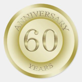 Gold effect 60th Anniversary Sticker