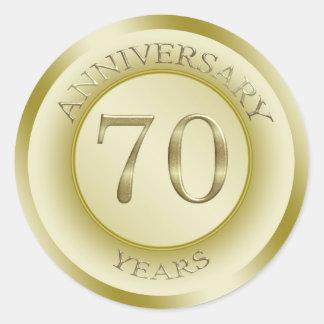 70th Anniversary Wedding Gift Ideas : Gold effect 70th Wedding Anniversary Sticker