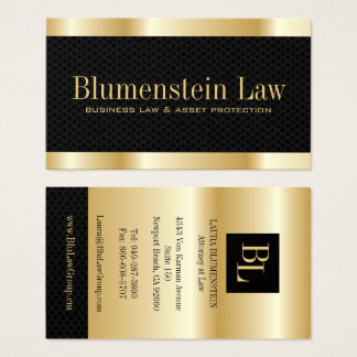 """Gold """"Effect"""" Attorney Business Cards"""