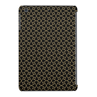 Gold-effect, Black Islamic Pattern iPad Mini Case