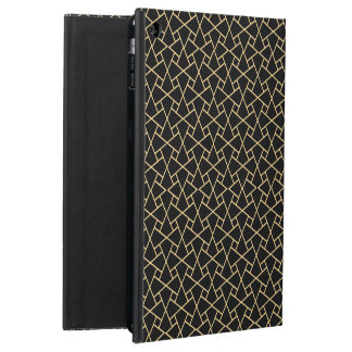 Gold-effect, Black Islamic Pattern iPad Powis Case Case For iPad Air
