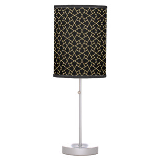 Gold-effect Black Islamic Pattern Table Lamp