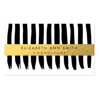 Gold Effect Chic Professional Business Card