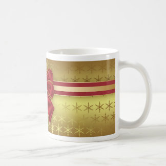 Gold Effect Holiday Package With Bow Mug