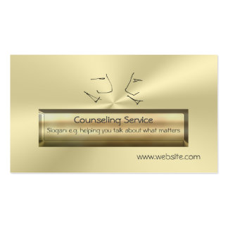 Gold effect luxury Talking Heads, Counsellor Business Card