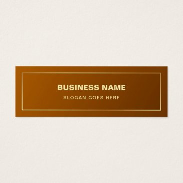 Lawyer Themed Gold Effect Plain Professional Modern Elegant Mini Business Card