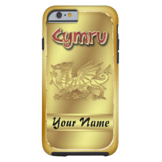 Gold Effect Welsh Cymru And Dragon iPhone 6, Tough Tough iPhone 6 Case