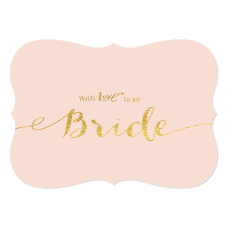 Gold-effect With Love to My Bride Wedding Day Card