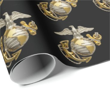Gold EGA- US Marine Corps Wrapping Paper