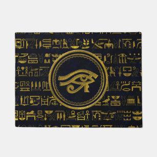Gold Egyptian Eye of Horus - Wadjet Doormat