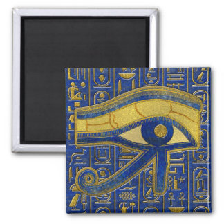 Gold Egyptian Eye of Horus - Wadjet Lapis Lazuli Magnet