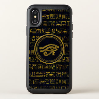 Gold Egyptian Eye of Horus - Wadjet Speck iPhone X Case