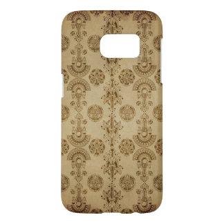 Gold Egyptian Print Ecru Taupe Samsung Galaxy S7 Case