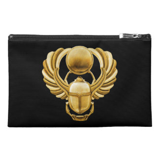 Gold Egyptian Scarab Travel Accessory Bags