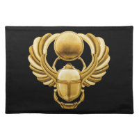 Gold Egyptian Scarab Cloth Placemat