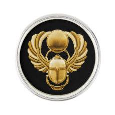 Gold Egyptian Scarab Lapel Pin