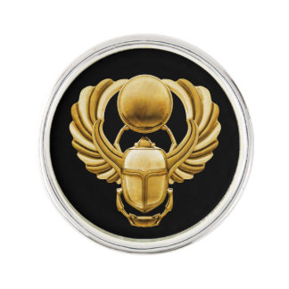 Gold Egyptian Scarab Lapel Pin