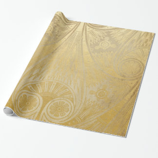 Gold Egyptian Scroll Design Gift Wrapping Paper