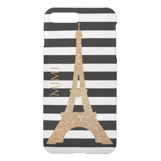 Gold Eiffel Tower Clear iPhone7 Plus Case