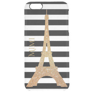Gold Eiffel Tower Clear iPhone 6 Plus Case