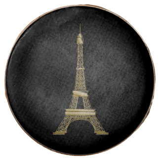 Gold Eiffel Tower French Black Cookie Party Favors