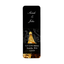 Gold Eiffel tower French Wedding Label