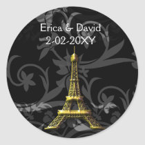 gold Eiffel Tower French wedding Seals