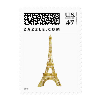 Gold Eiffel Tower Postage