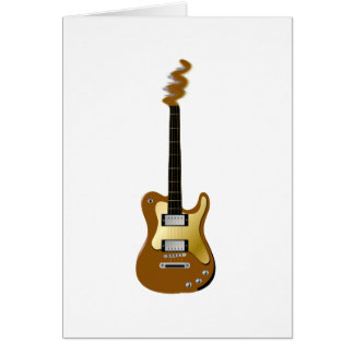 Gold electric guitar fizzle headstock card