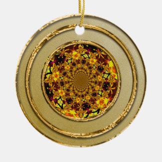 Gold Elegance Ceramic Ornament