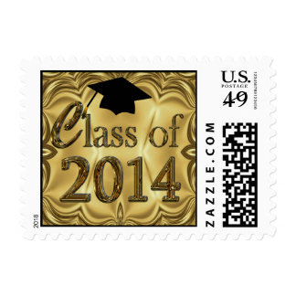 Gold Elegance Class Of 2014 Postage Stamp