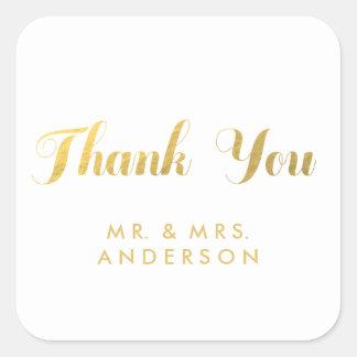 Gold Elegance | Wedding Favor Thank You Sticker