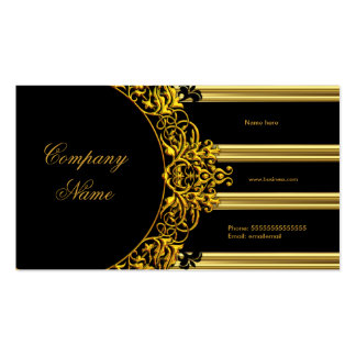 Gold Elegant Black Glamorous Fashion Double-Sided Standard Business Cards (Pack Of 100)