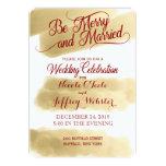 Gold Elegant Christmas Holiday Wedding Invitation