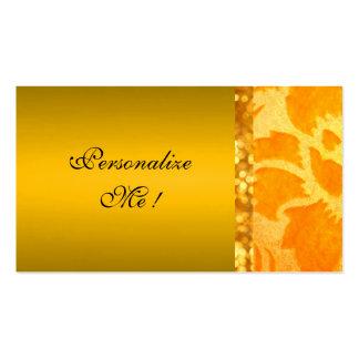 Gold Elegant Damask Save-the-Date Floral Modern Business Card
