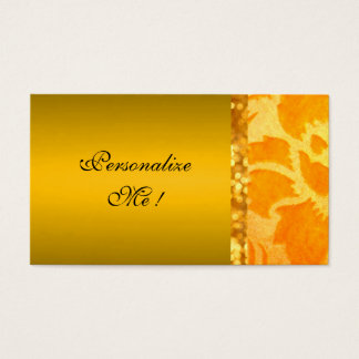 Gold Elegant Damask Save-the-Date Floral Modern Business Card