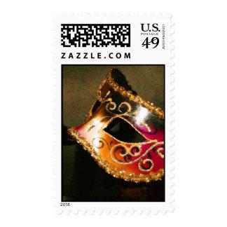 Gold Elegant Masquerade Mask US Postage Stamp