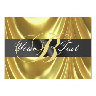 Gold Elegant Monogram Letter B 5x7 Paper Invitation Card