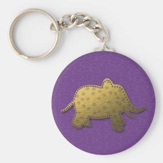 gold elephant keychain