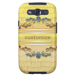 Gold Embellished Samsung Galaxy SIII Cover