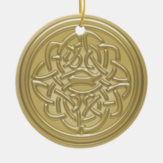 Gold Embossed Effect Cletic Knot Hanging Ornament