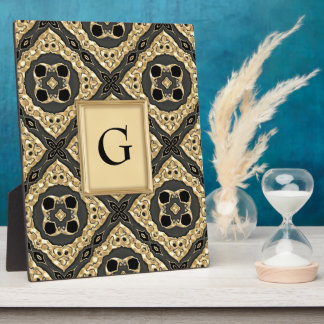 Gold Embossed Lace Photo Plaque
