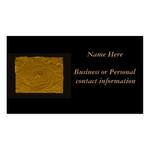 Gold Embossed Look Rose Business Card