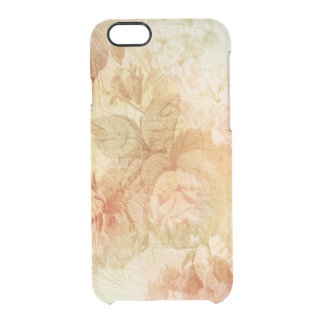 Gold Embossed Roses Clear iPhone 6/6S Case