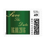 Gold & Emerald Save the Date Stamps
