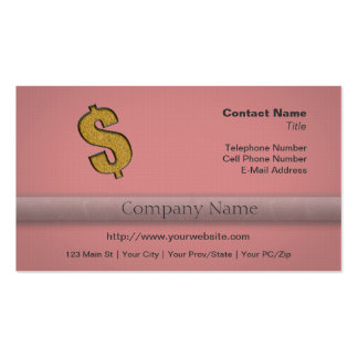 Gold Encrusted Dollar Sign Business Card