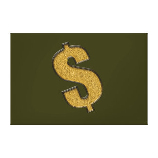 Gold Encrusted Dollar Sign Canvas Prints