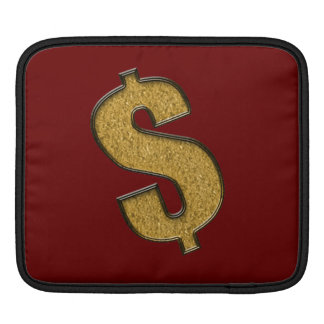Gold Encrusted Dollar Sign Sleeves For iPads