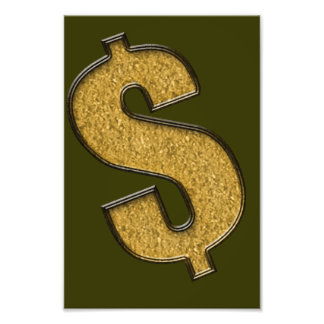 Gold Encrusted Dollar Sign Photo Print
