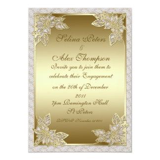 Gold Engagement Invitation